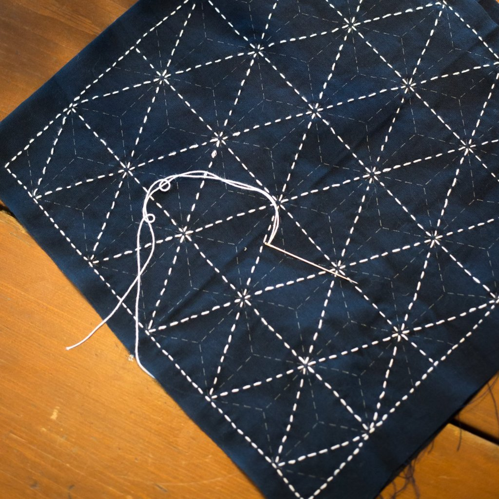 03/11 Sashiko Workshop: Traditional Japanese Embroidery on Wednesday March 11 at 6pm