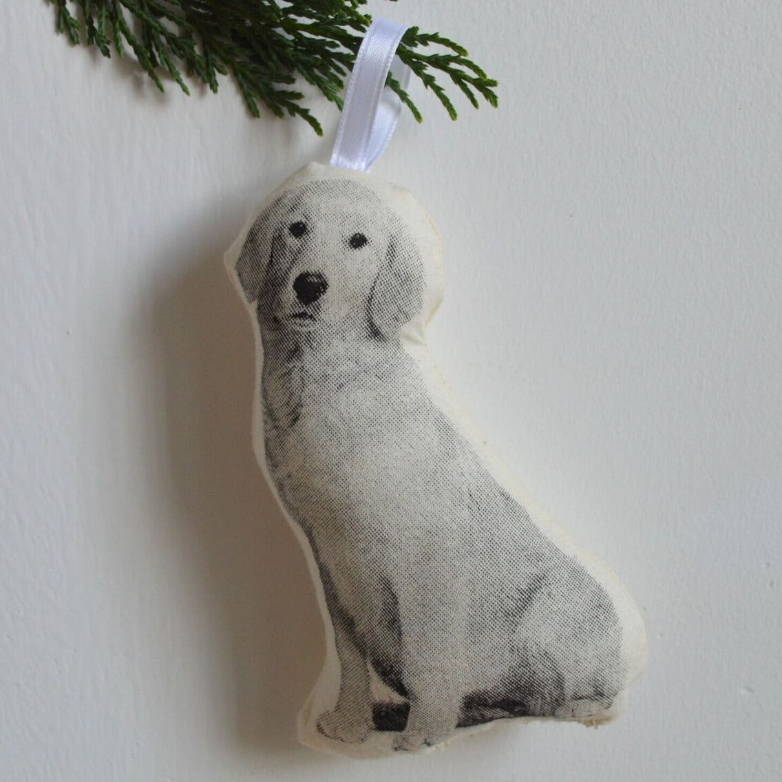 Stuffed Golden Retriever Ornament