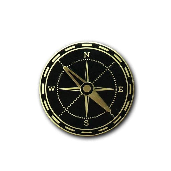 Compass Enamel Pin, Arsenal Handicraft, Handcrafted Home Goods and Gifts