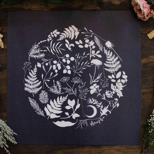Maija Rebecca Hand Drawn - 12'' x 12'' Foraged Art Print