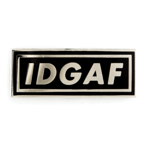Enamel Pin - IDGAF, These Are Things, Handcrafted Home Goods and Gifts