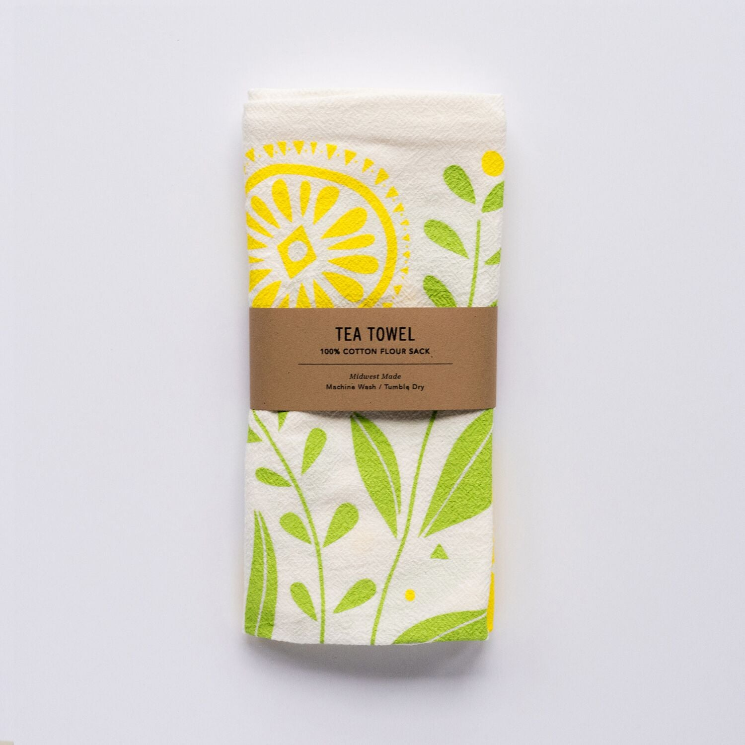 Tea Towel - Lemon Bloom, HAZELMADE, Handcrafted Home Goods and Gifts