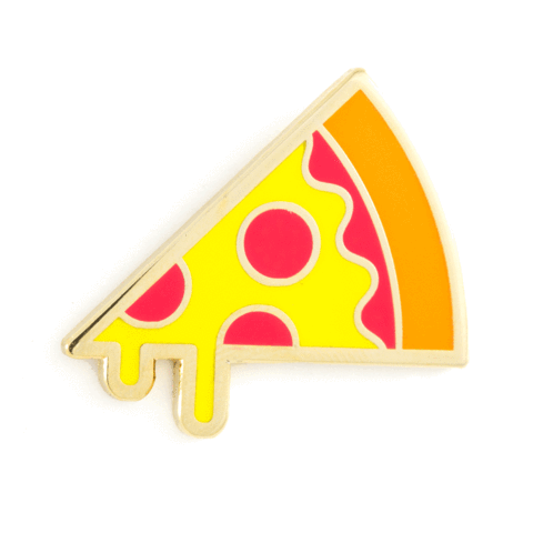 Enamel Pin - Pizza, These Are Things, Handcrafted Home Goods and Gifts