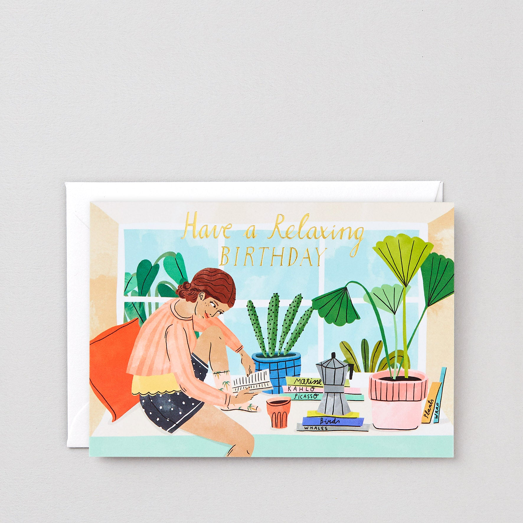 Birthday Card - Relaxing Birthday, Wrap, Handcrafted Home Goods and Gifts