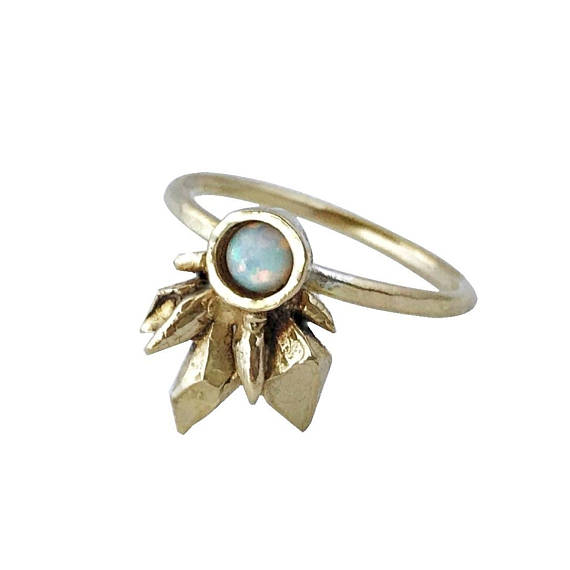 Therese Kuempel - Thea Ring With Opal