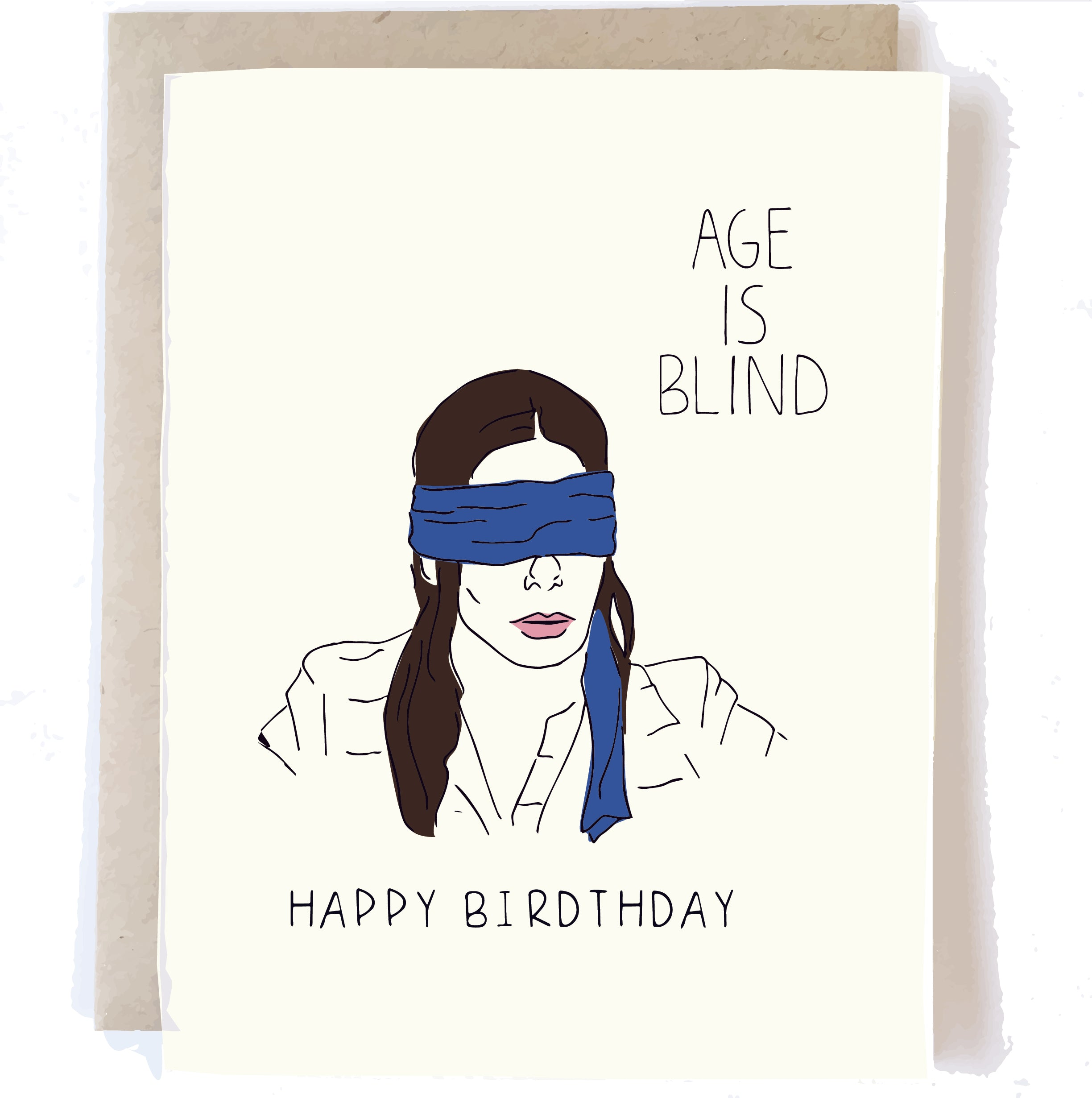 Birthday Card - Age Is Blind