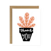 Thank You Potted Plant Card