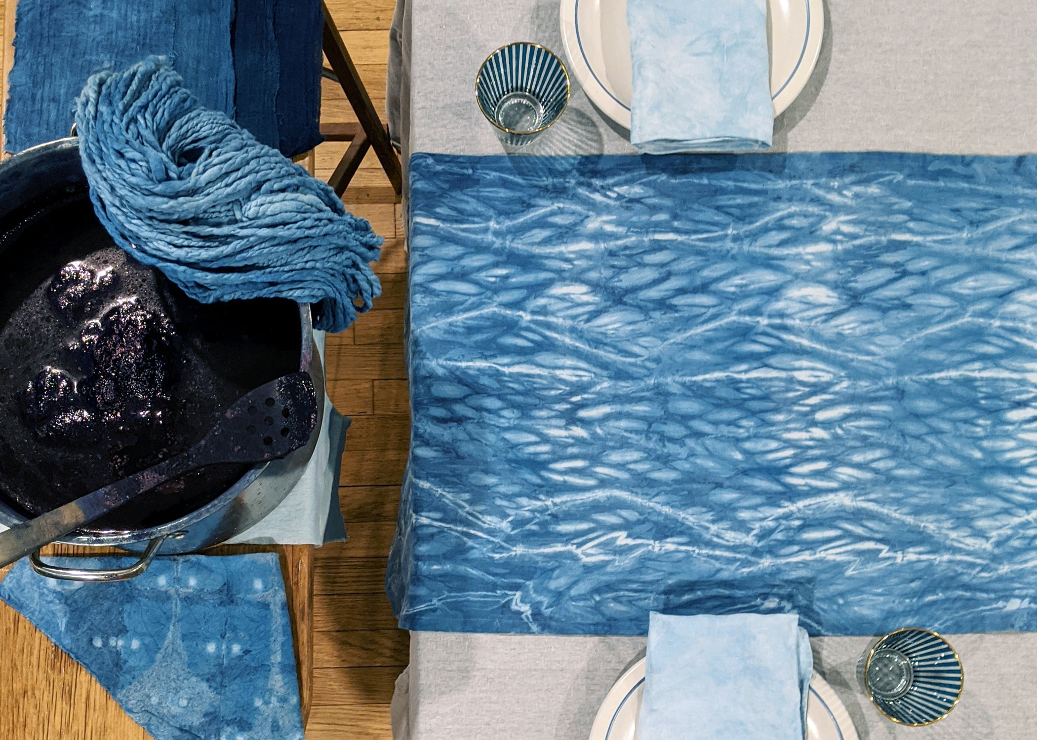 05/30 Natural Dye Workshop: Indigo Dyeing with Adventure Textiles on Saturday May 30 at 10am