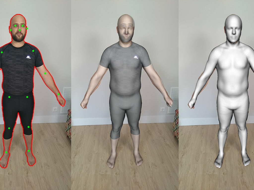 3D scan your body with a phone - a new way to buy sports clothing