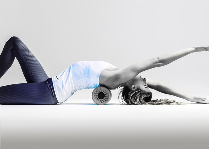 Recover twice as fast with HYPERICE vibrating foam roller