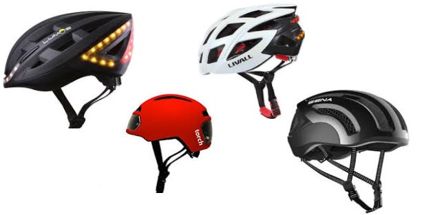 Four of the best smart bike helmets with brake / indicator lights
