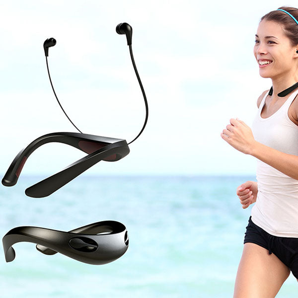 Running fitness wearable arc necklace