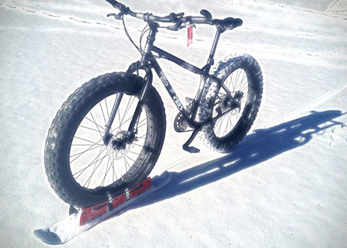 Bikeboards - go skiing or snowboarding on your bike