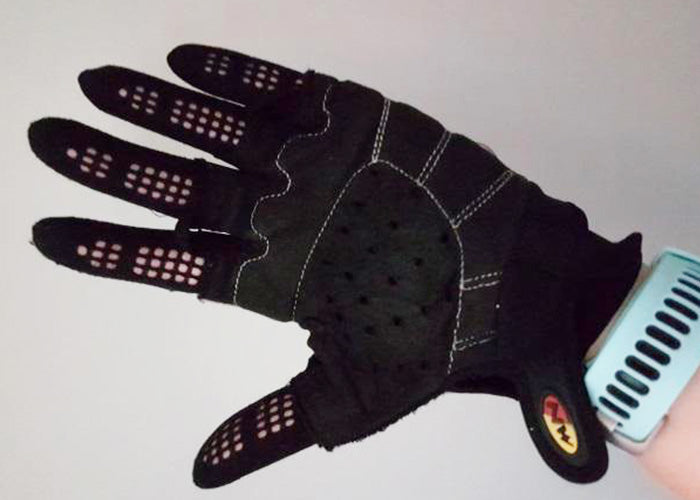 Cycling with Flux Zero Gloves