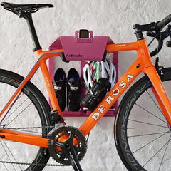 Artivelo Pink Bike Storage Rack and Wall Mount