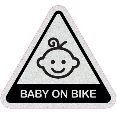 Baby on Bike - Child Bike Seat Reflective Stickers - Triangle