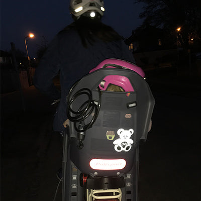 Baby on Bike - Child Bike Seat Reflective Stickers - Square