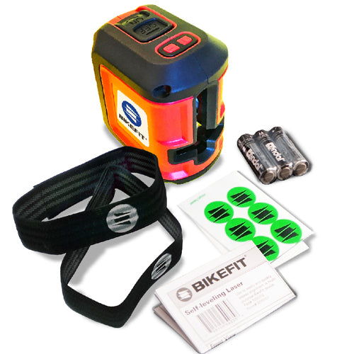 Bike Fit Laser Velcro Knee Straps and Sticker Dots Kit