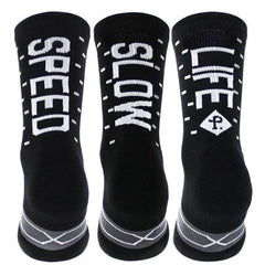 Pacific and Co Speed Slow Life Cycling Socks in Black