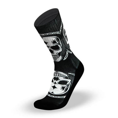 Lithe Badass Black Skull Socks