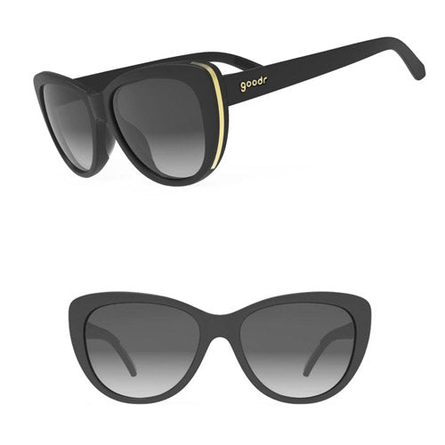 Goodr Runways Sunglasses - Breakfast run to Tiffany's - Black
