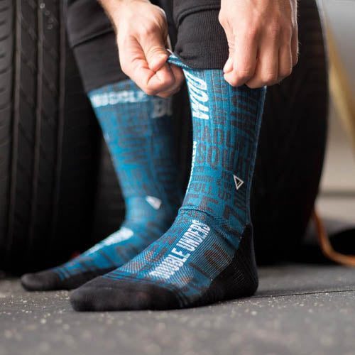 Lithe Cross It Blue Crossfit Socks