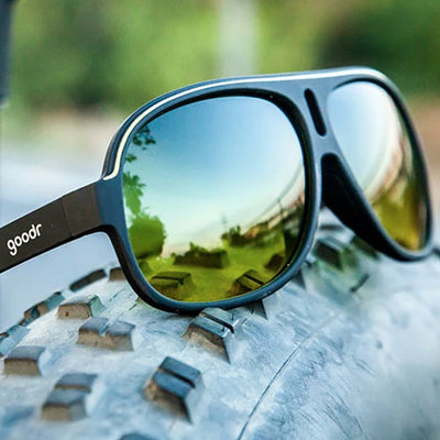 Goodr Super Fly's Sunglasses - Dirk's Inflation Station - Black