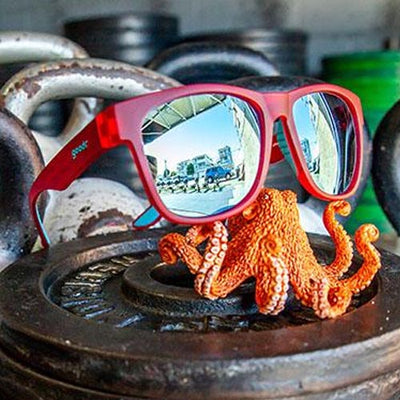Goodr BFG's Sunglasses - EMOM (Envy My Octopus Muscles) - Red