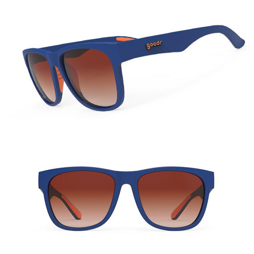Goodr Beast BFG's Sunglasses - Farmer Von's Triple Pump - Blue and Orange Frame