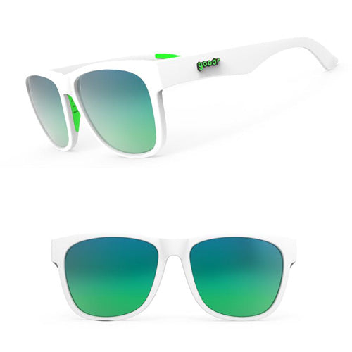 Goodr BFG's Sunglasses - Gangster Amrapper - White
