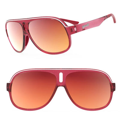 Goodr Super Fly's Sunglasses - Lance's Afternoon Uppers - Red