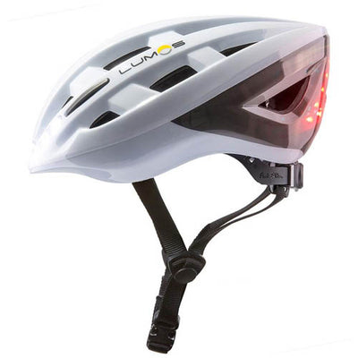 Lumos Lite Bike Helmet with Lights - White