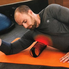 MojiHeat heated Foam Massage Roller for HAmstrings