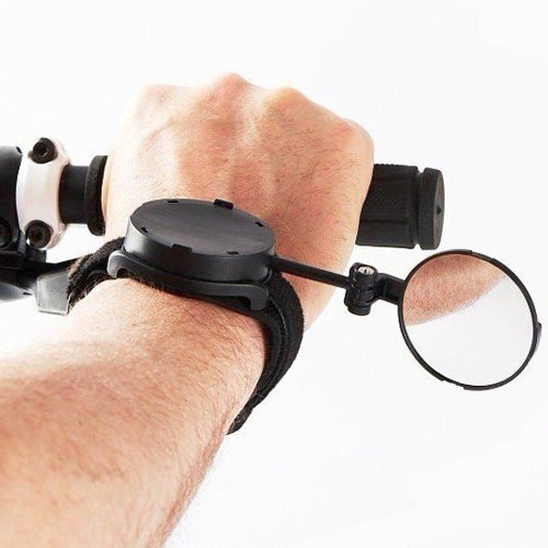 Myklops wrist mounted rear view bike mirror