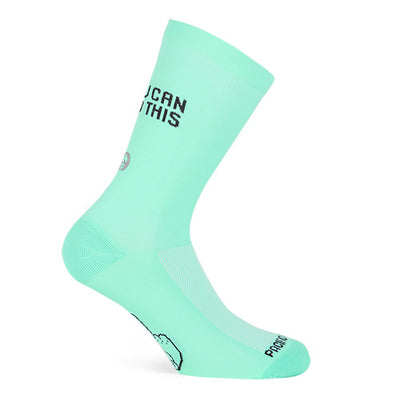 Pacific and Co I am faster than you cycling socks in green