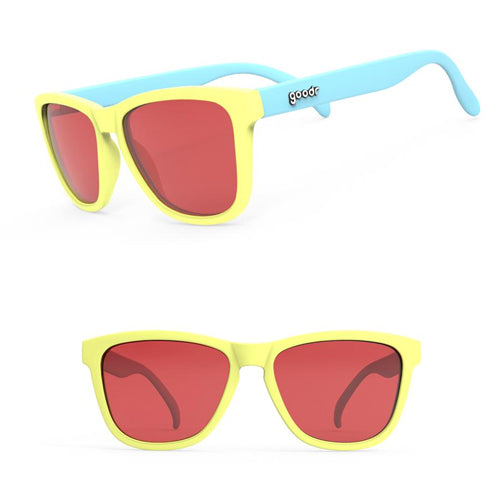 Goodr OGs Sunglasses - Pineapple Painkillers - Yellow Blue