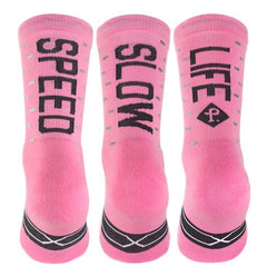 Pacific and Co Speed Slow Life Cycling Socks in Pink