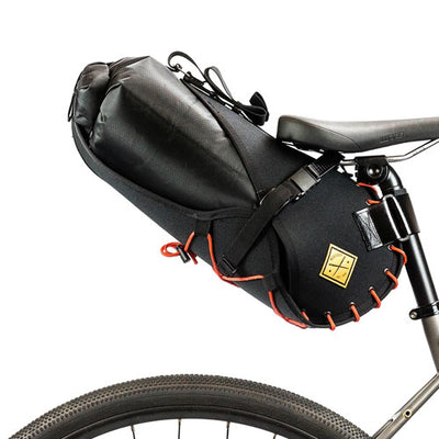 Restrap Saddle Bag with 8L Drybag - Black / Orange