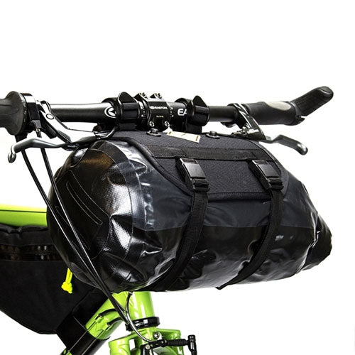 Restrap Handlebar Bag +Dry Bag + Food Pouch - Small Black / Black
