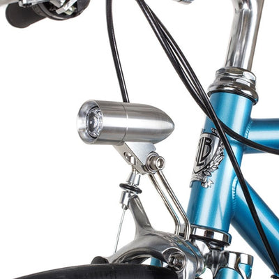 Rindow Silver Bullet Front Bike Light with mount + stays