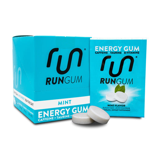 Run Gum Energy Gum - Original Mint - 12 Pack