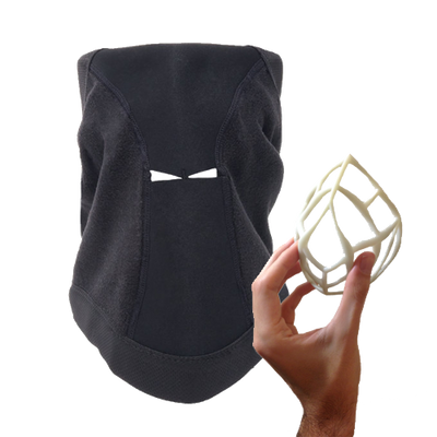 Skibonez Ski Mask lifts off your vase so you can breathe
