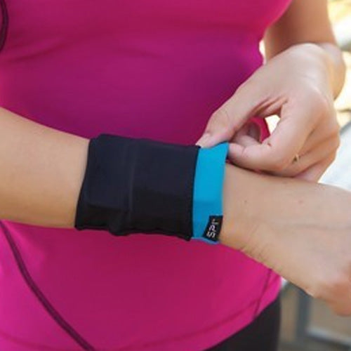 Spiband wrist running pocket