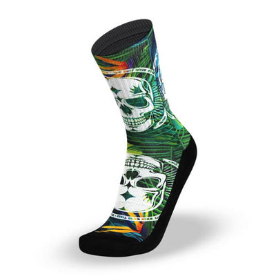 Lithe Badass Tropical Skull Socks