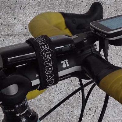 Bike Strap to hold GPS Computer Device on Stem