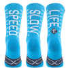 Pacific and Co Speed Slow Life Cycling Socks in Blue