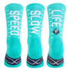 Pacific and Co Speed Slow Life Cycling Socks in Turquoise