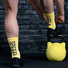 Pacific and Co Speed Slow Life Cycling Socks in Yellow
