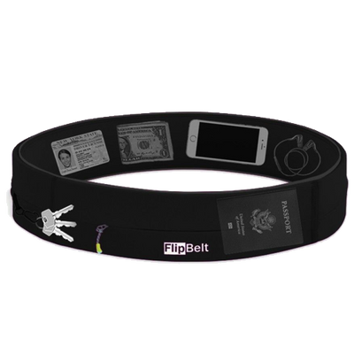 Zipper Flip belt no bounce running belt with a zip