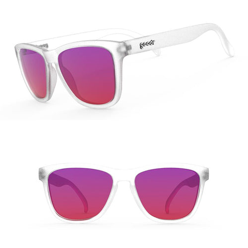 "Goodr OGs Sunglasses - Sunset ""Squishee"" Brain Freeze - Clear Purple"